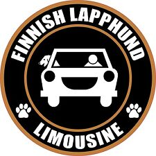 "Limousine Finnish Lapphund 5"" Dog Sticker"