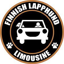 """Limousine Finnish Lapphund 5"""" Dog Sticker"""