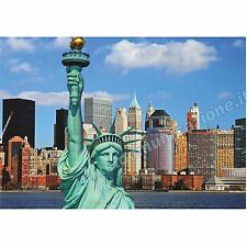 QUADRI MODERNI POSTER DESIGN NEW YORK CITY STATUA DELLA LIBERTA' LIBERTY 100x140