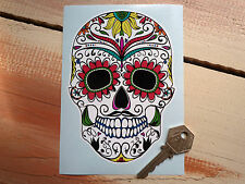 "DAY OF THE DEAD Large 6"" Sugar Skull Vinyl Decal Car Sticker Mexican Rockabilly"