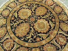 Agra Design Oriental Rug 6' Round Super Quality A Fine Local Estate Hand Woven