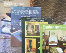 Dollhouse Miniatures Four Needlework and Furniture Pattern Books