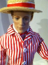 "Tonner MATT O'NEIL 17"" Vinyl DOLL in Victorian Holiday Ensemble w/ Hat + Stand"