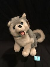 Siberian Husky Dogs On Parade Plush Stuffed Animal Blue Eyes White Grey Kellytoy