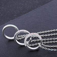 D'Argento Tono BFF migliori amiche per sempre set di 3 ciondoli collane regalo UK 230