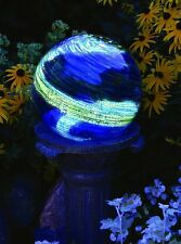 Echo Valley Gazing Globe Glow In The Dark Glass Blue Garden Lawn Ball Outdoor