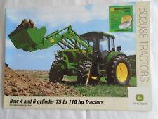John Deere  75 to 110HP 6020SE Tractors brochure Nov 2002 English text