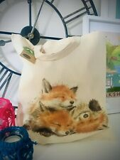Tote Bag, Fox **HANDMADE, ECO-FABRIC, CAN BE PERSONALISED**