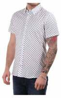 J Lindeberg Daniel Short Sleeve Shirt Allover Blue spot print Size L Slim Fit