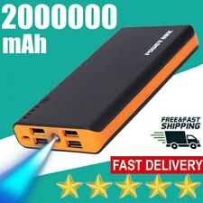 4USB 2000000mAh Power Bank LED Backup Travel Battery Pack Charger for Cell Phone