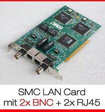 PCI SMC NETZWERKKARTE DUAL 2x BNC 2x RJ45 030181 LAN NETWORK CARD 60-600517-001