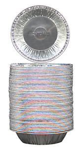"MontoPack Disposable 5"" Aluminum Foil Tart/Pie Pans 50 Pack"