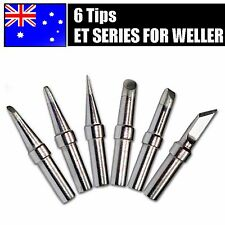 6PCS Solder Rework Soldering Station Iron Tips for Weller WES51 WESD51 PES51 AU