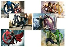 Avengers Black Widow Captain America  Iron Man Thor Hulk  A5 A4 A3 Movie Posters