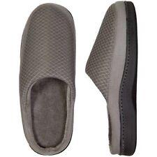 Dearfoams Men's Memory Foam Mesh Clog Slippers (Small 7/8, Grey)
