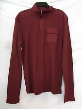 Alfani Red Size L  Large Maroon Long Sleeve New Mens Shirt