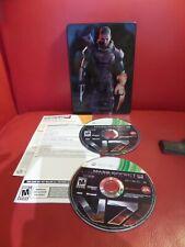 Mass Effect 3 (Microsoft Xbox 360, 2012) Steel Case