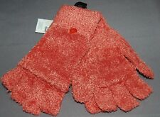 Studio S Ladies Fuzzy Bright Fingerless Texting Gloves Converts to Mittens NWT