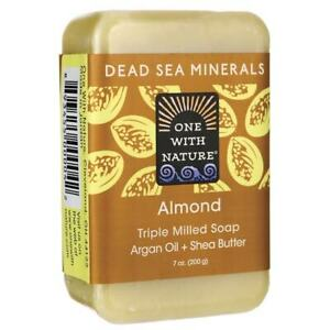 One With Nature Dead Sea Minerals Triple Milled Bar Soap - Almond 7 oz Bar(S).