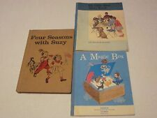 Lot 3 Four Seasons With Suzy, My Little Blue Story Book, Magic box vtg books 120
