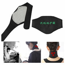 Self Heating Magnetic Therapy Tourmaline Pain Relief Neck Wrap Support Collar uk