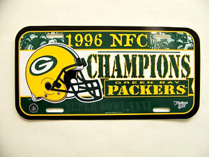 GREEN BAY PACKERS LICENSE PLATE 1996 NFC CHAMPIONS