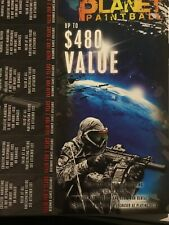 Planet Paintball Tickets- All Day Passes Originally40$ (limited time ) 480$value
