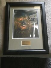 Signed PETER MAYHEW Autograph Frame