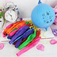 12Pcs Mixed Color Latex Balloons Punch Balls Balloons Birthday Party Favors