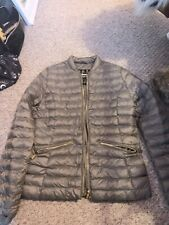 Barbour Fibredown Ladies Jacket UK10 Beige/gold Immaculate