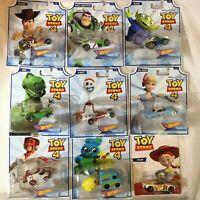8 Toy Story 4 Hot Wheels Die Cast Toy Vehicles+Bonus Jessie Disney Pixar