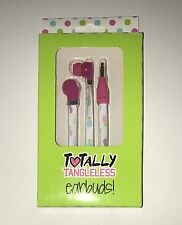 Totally Tangleless Earbuds Earphones Multicolor Headphones Flexi-Flat Cables NIB