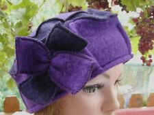 Gorro Mujer de lana MC Burn Púrpura Ocasión Sombrero Para Dama Winter Otoño