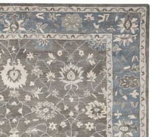 Authentic Mia Gray Handmade Traditional Parsian 100% Woolen Rugs & Carpet