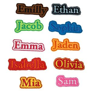 Personalised Embroidered Name Frame Patch Badge Many Colours Iron on sew on A1
