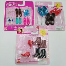 Mattel 1999 Skipper Barbie Ken Little Extras Show Lot 13 Pairs Sandals Boots 98