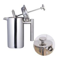 Stainless Steel Tea Spoon Cafetiere Coffee Filter Maker French Press Plunger New