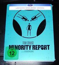 MINORITY REPORT Tom Cruise limitatifs steelbook avec intérieur pression Blu ray NOUVEAU & NEUF dans sa boîte