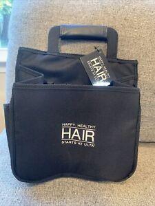 NWT Hair Appliance Caddy Black Canvas Expandable Carry All by ULTA BEAUTY (8B)