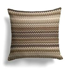 "Geometric Cushion Covers Zig-Zag Chevron Woven Bright Cushions Cover 17"" x 17"""