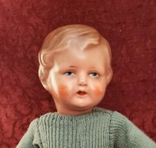 """Vintage/Antique German Boy Composition Head Cloth Jointed Body 15"""" Doll Cute"""