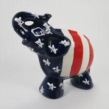Turov Art Ceramics Elephant Figure Statue Patriotic Republican GOP USA Patriotic