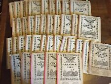 J. Gruber's Hagers-Town MD Town and Country Almanack ~1911-1961-40 Issues