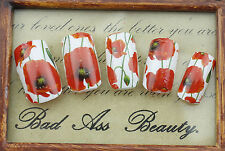 Remembrance POPPY Armistice Day Flowers Water Transfers Nail Art Sticker Decals