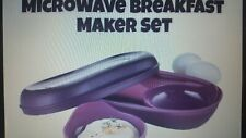 New Tupperware Microwave Breakfast & Other foods Maker Set /w The Egg Inserts!