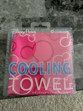 """Disney Parks Cooling Towel Pink Coolcore 15"""" x 36"""" Chemical Free - NEW"""