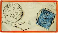 ITALIA - Regno - 1879 - Da Chignolo d'Isola - Effigie di V. Emanuele II. 10 c.
