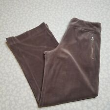 Soma Intimates Taupe Velvet Pants Zip Pockets Size XS
