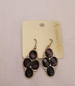 Acessorize Rhinestone Earrings Drop Dangle Bohemian