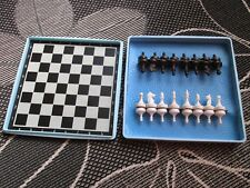 Vintage Stock Travel Plastic Soviet Mini Pocket Small Magnet Chess 1972